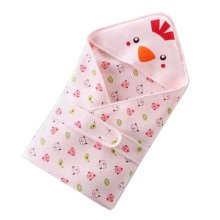 Cute Chick Baby Receiving Blankets Summer Hooded Swaddleme, Pink
