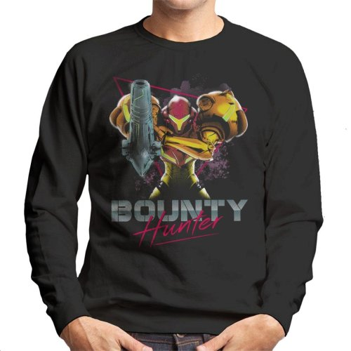 Classic Bounty Hunter Retro 80s Metroid Men's Sweatshirt