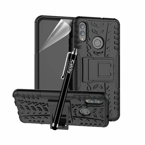 (Black) For Huawei Honor 20 Lite Shockproof Case Cover