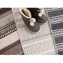 Rug - Carpet - Cotton - Wool - Handmade - Grey - PAYAS