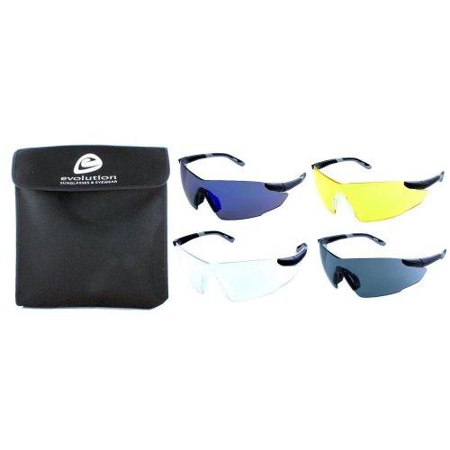 Evolution Hunter Set of 4 Shooting Glasses With Cartridge Belt Case
