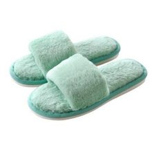 Fashion Ladies Winter Warm & Cozy  Indoor Shoes Skidproof House Slipper, Green