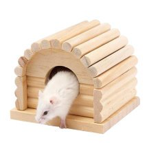 Cute Hamster Hideout Hut, Cute Wooden Bedding for Small Animals?I