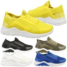 Tammy Womens Low Heel Pull On Lace Up Trainers