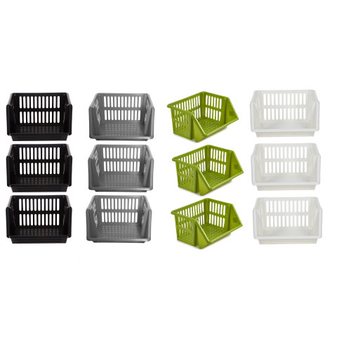 3 Tier Stacker Storage Baskets Fruits,Vegetables Holder Kitchen Rack Organizers