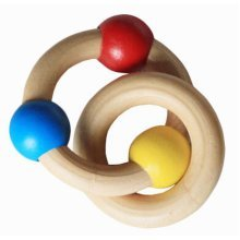 Baby Musical Instruments Lovely Rattles Wooden Hand Bell Baby Toys