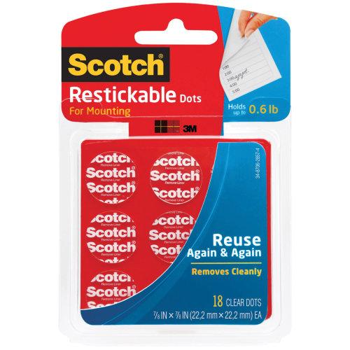 """Scotch Restickable Dots-.875"""" 18/Pkg"""