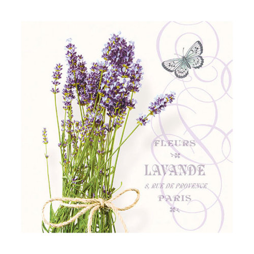 Ambiente 3 Ply Paper Napkins, Bunch of Lavender