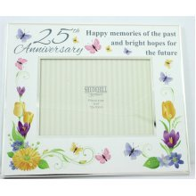 Floral Delight - 25th Anniversary Photo Frame.