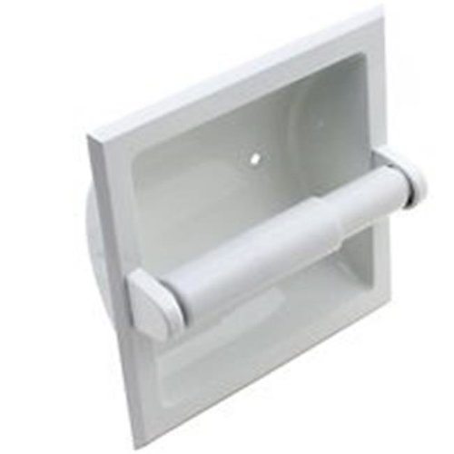 Mintcraft L776H-51-07 Toilet Paper Holder, Square White