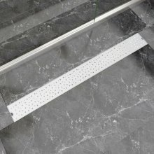 vidaXL Linear Shower Drain Bubble 1030x140 mm Stainless Steel