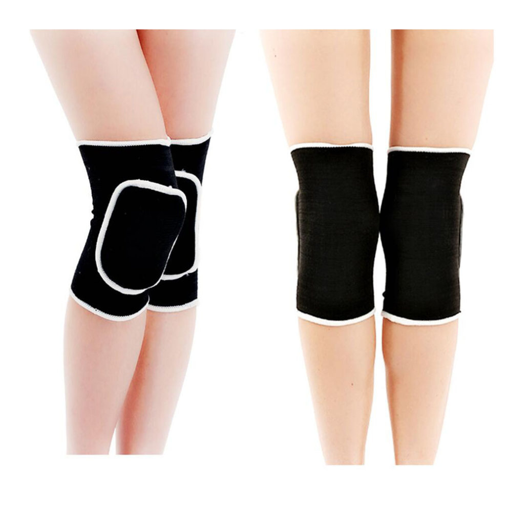 2d60f06518 ... Knee Brace Sleeve for Yoga/Dance/Football/ Basketball Sports Protection  Black - 1. >