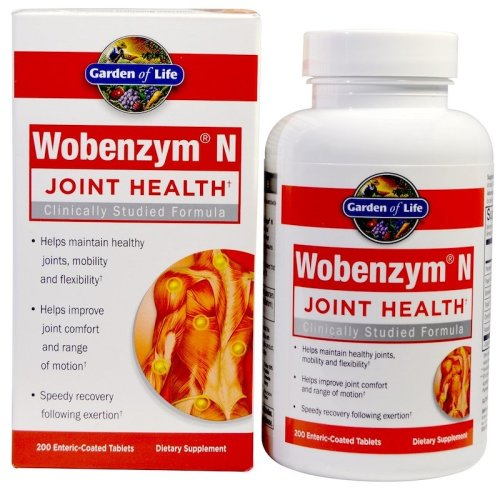 Wobenzym N 200 Tabs Garden of Life, Inflammation, Joint Support