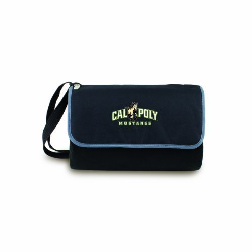 NCAA Cal Poly San Luis Obispo Mustangs Outdoor Picnic Blanket Tote, Black