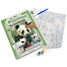 Royal & Langnickel Painting by Numbers Junior Small Art Activity Kit, Panda ad Baby
