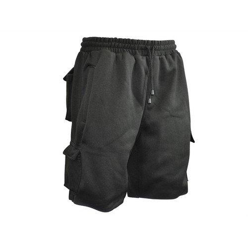 Roughneck Clothing RNKJSHORT30 Jogger Shorts Black Waist 30in