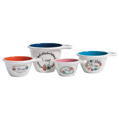 Pretty Things Measuring Cups, Set Of 4
