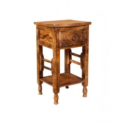 Soild Wood Made Shabby Walnut Finish W31xdp28xh55 Cm Sized Coffee Bedside Table