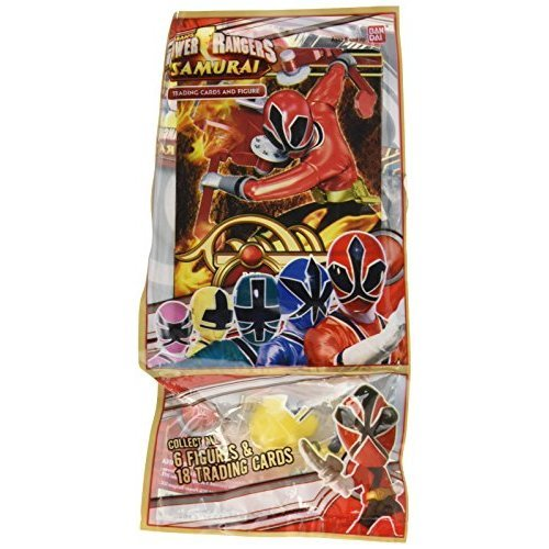 Power Rangers Samurai Trading Cards and Figure [ Figures Vary ]