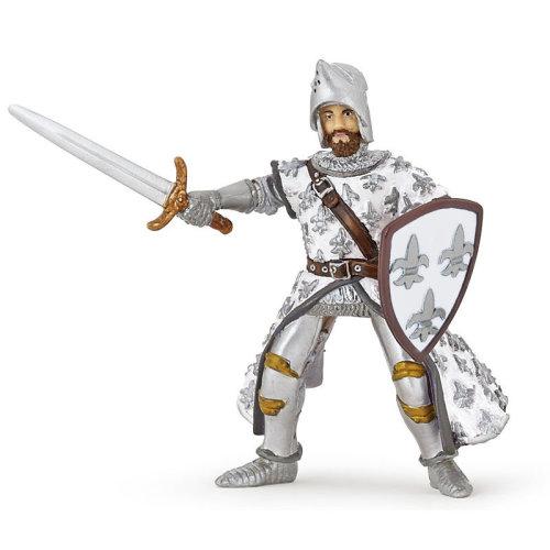 "Papo ""prince Philip"" Figure (white) - White Prince 39791 Philip Knights -  papo white prince figure 39791 philip knights phillippe new cm world"