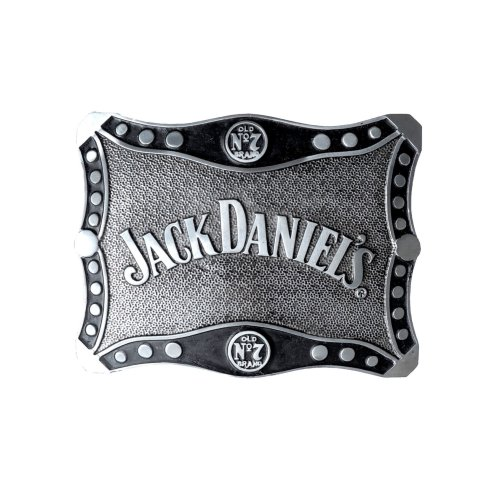 Jack Daniels Scrolled Oblong Belt Buckle