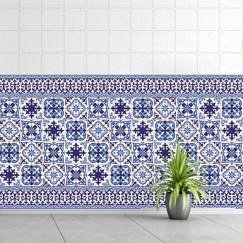 Walplus Tile Granada Wall Sticker Decal (Size: 10m x 10cm @ 24pcs)