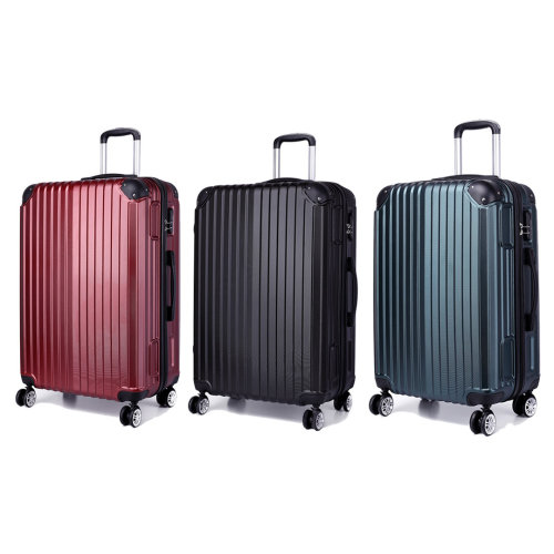 KONO Stripe Luggage Suitcase 4 Wheels 20 24 28 Inch Set
