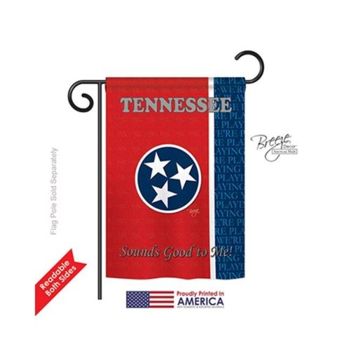 Breeze Decor 58130 States Tennessee 2-Sided Impression Garden Flag - 13 x 18.5 in.
