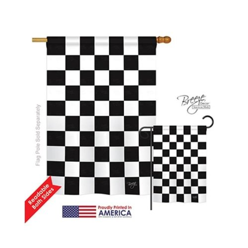 Breeze Decor 09017 Winner 2-Sided Vertical Impression House Flag - 28 x 40 in.