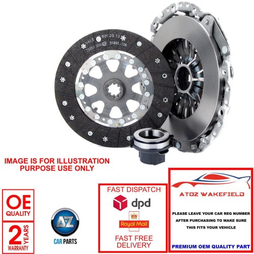FORD FUSION FIESTA 1.4 TDCi BRANDED 3 PIECE CLUTCH COVER DISC CYLINDER KIT 210mm