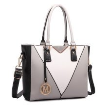 Miss Lulu V Shape Leather Shoulder Handbag Tote Bag