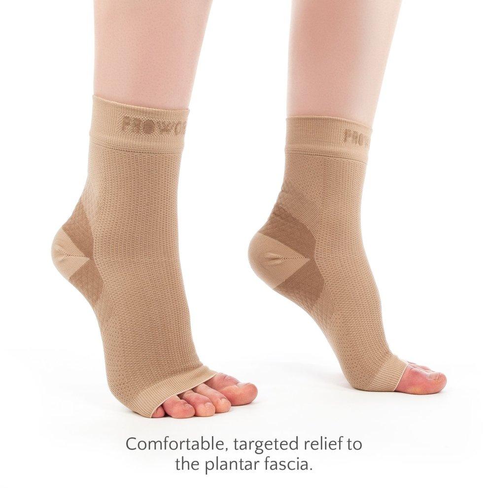a9c6f002fd ... Proworks Plantar Fasciitis Compression Socks (Pair), Night Splint  Alternative & Open-Toe ...