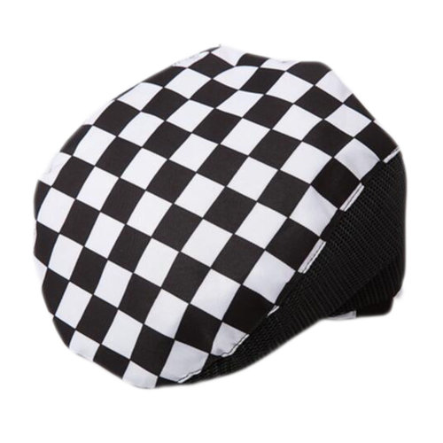 Fashion Cook Hats Hotel Cafe Breathable Mesh Chef Hats-Grid