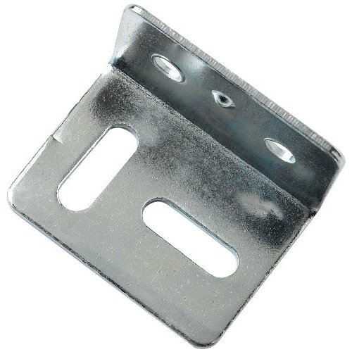 Bulk Hardware BH00122 Cranked Square Stretcher Plate Bracket Brace, 38 mm Square - Pack of 10
