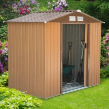 Outsunny Metal Garden Shed | Lockable Roofed Storage