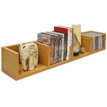 VIRGO - 84 CD / 56 DVD / Blu-ray / Video Media Wall Storage Shelf - Beech