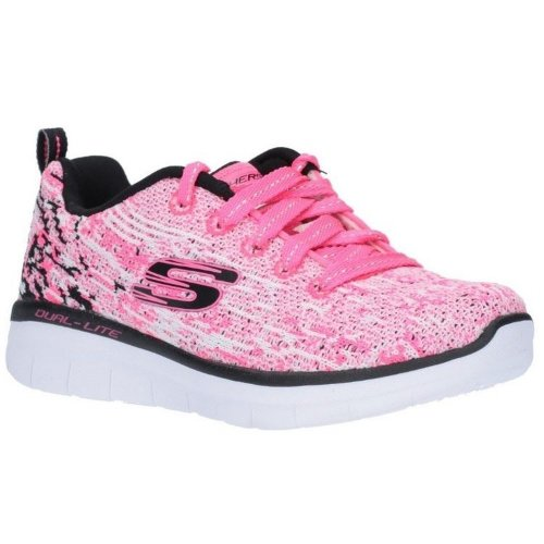 Skechers Childrens/Girls Synergy 2.0 High Spirits Lace-Up Trainers
