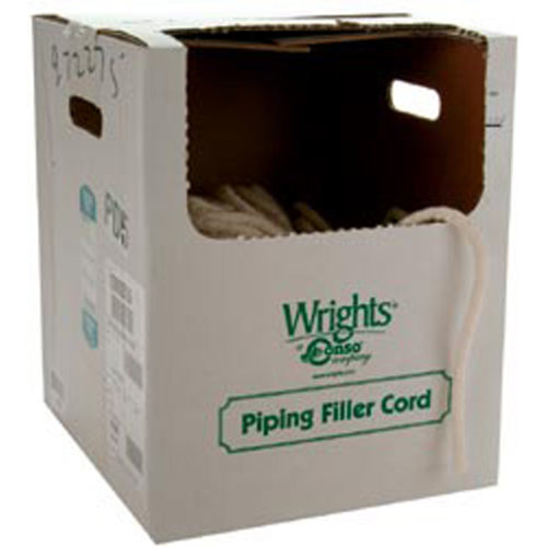 """Wrights Cotton Piping Size 1 3/16""""X50yd-Natural"""
