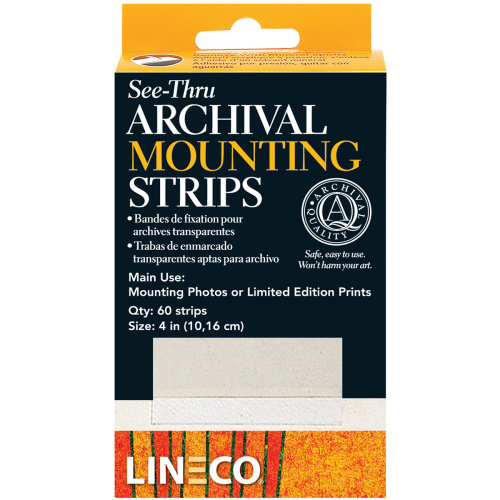 """Lineco See-Thru Archival Mounting Strips 60/Pkg-4"""""""