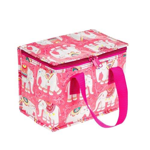 Pink & White Mandala Elephant Children's Lunch Cool Bag