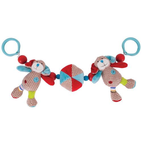 Bigjigs Toys Soft, Plush Bruno Pram String - Push Chair, Buggy Accessories