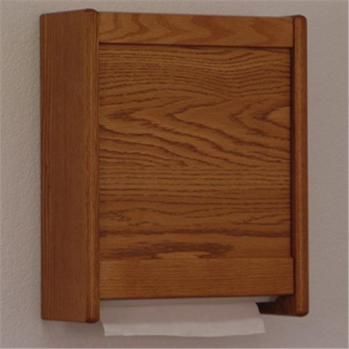 Wooden Mallet WCT1MO C-Fold and Multi-Fold Towel Dispenser in Medium Oak