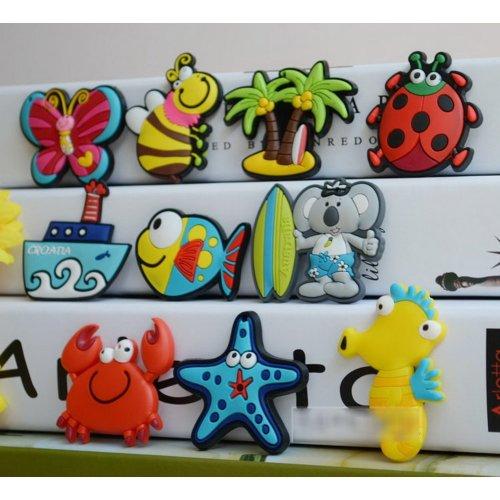 10 PCS Sea Animal Magnets for Kids PVC Fridge Magnets,Random Style