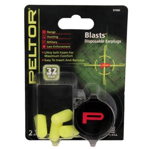 Peltor 97080-10C Peltor Sport Blasts, Neon Yellow - 2 Pair per Pack