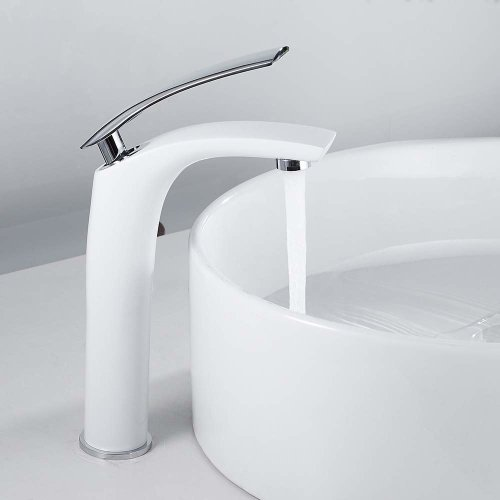 Basin Mixer Tap Modern Single Lever Bathroom Sink Hot/Cold Taps