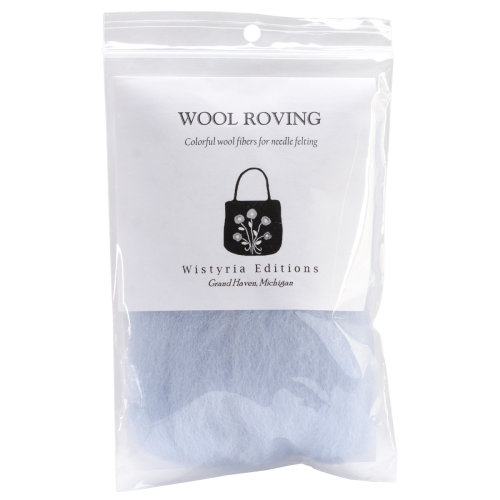 """Wistyria Editions Wool Roving 12"""" .22oz-Pale Blue"""