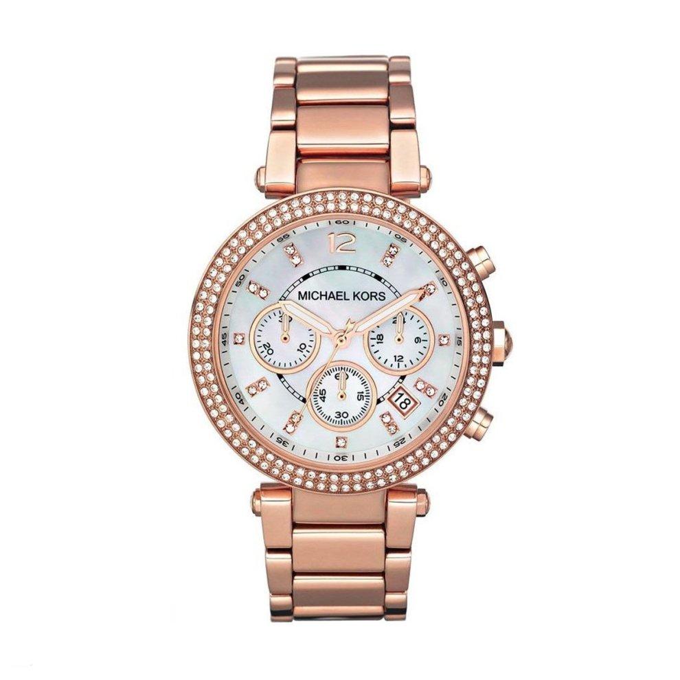 Michael Kors Parker MK5491 Ladies Chronograph Rose Gold Watch