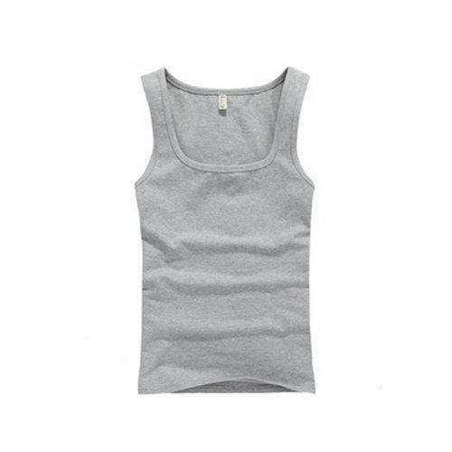 Summer Close-Fiting Bottoming Vest Sport Vest For Men Dark Gray