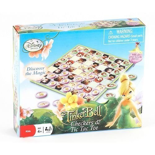 Disney Tinker Bell Checkers and Tic Tac Toe