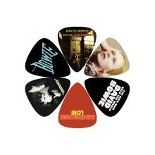 Perris Leather David Bowie Covers Db1 Guitar Pick (pack Of 6) - 6 Pack Lp -  perris 6 pick pack david bowie db1 guitar lpdb1 plectrums leather covers